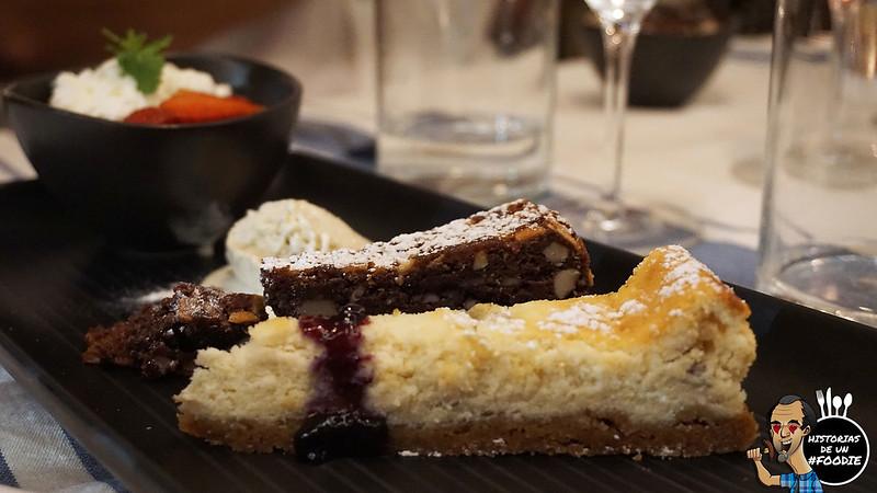 Torta caprese y torta di rocitta e pere