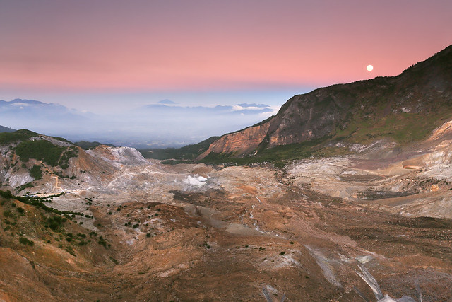 Moonrise Over Papandayan Crater