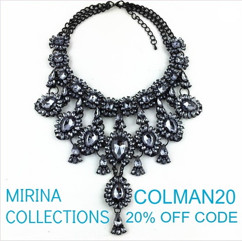 Mirina Collections coupon code 20% off COLMAN20