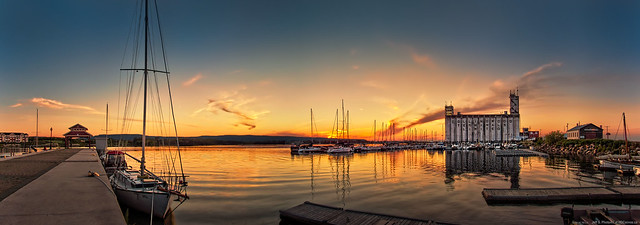 Panorama - Collingwood Marina at Sunset - HDR