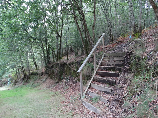 Escaleras en la Ruta de Ambalasaugas a Ás Pías