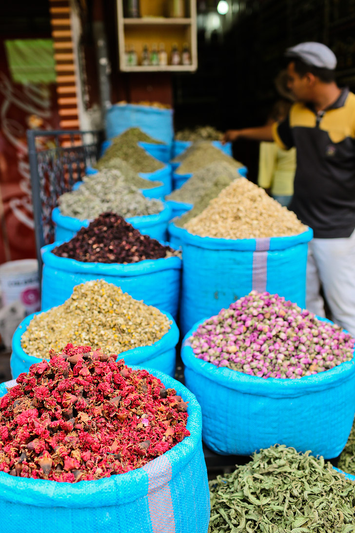 Spices at Place Jemaa el Fna Marrakech Market (Things to Do in Morocco).