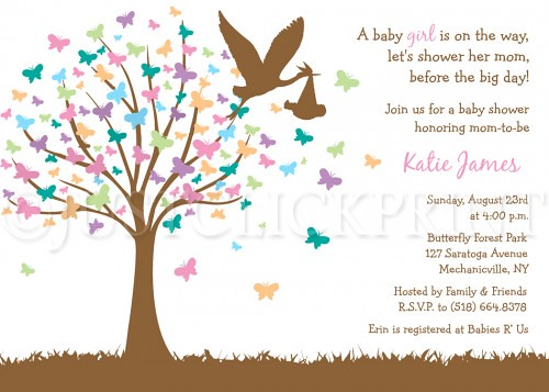 Baby Shower Invitation Clipart