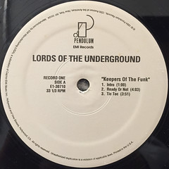 LORDS OF THE UNDERGROUND:KEEPERS OF THE FUNK(LABEL SIDE-A)
