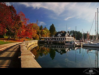 Fall colours in Stanley Park, Vancouver, Canada