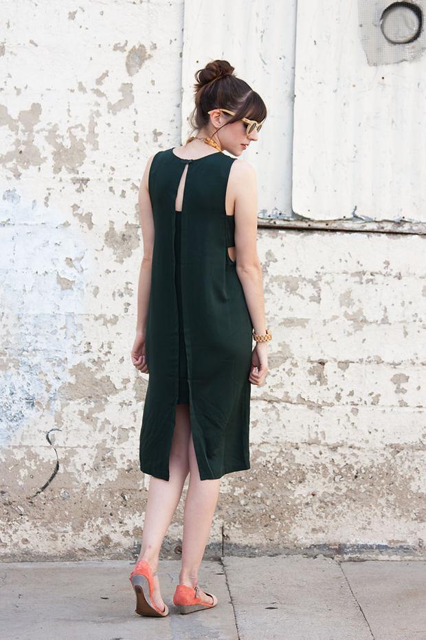 Forever 21 Green Midi Dress, Green Dress, Shift Dress, Midi Dress