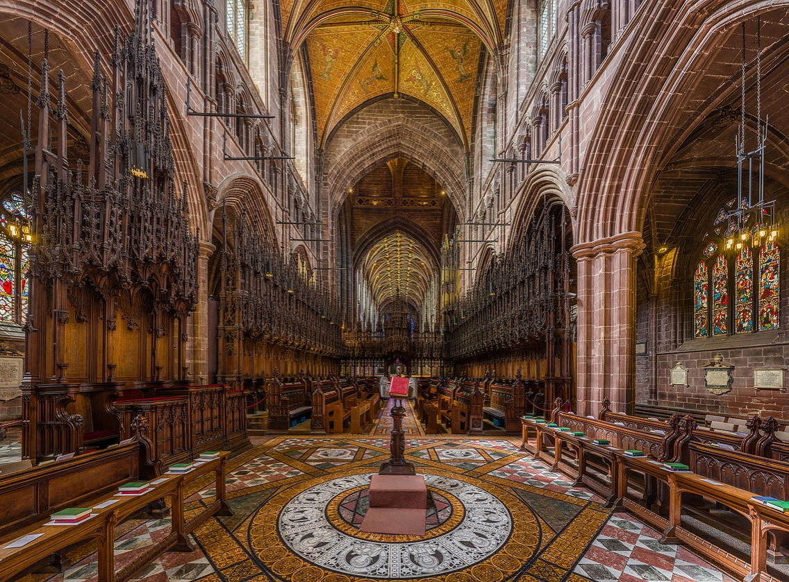 Chester Cathedral - Choir Stalls and Rood Screen. Credit: David Iliff