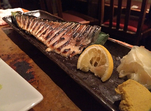 Flame seared mackerel