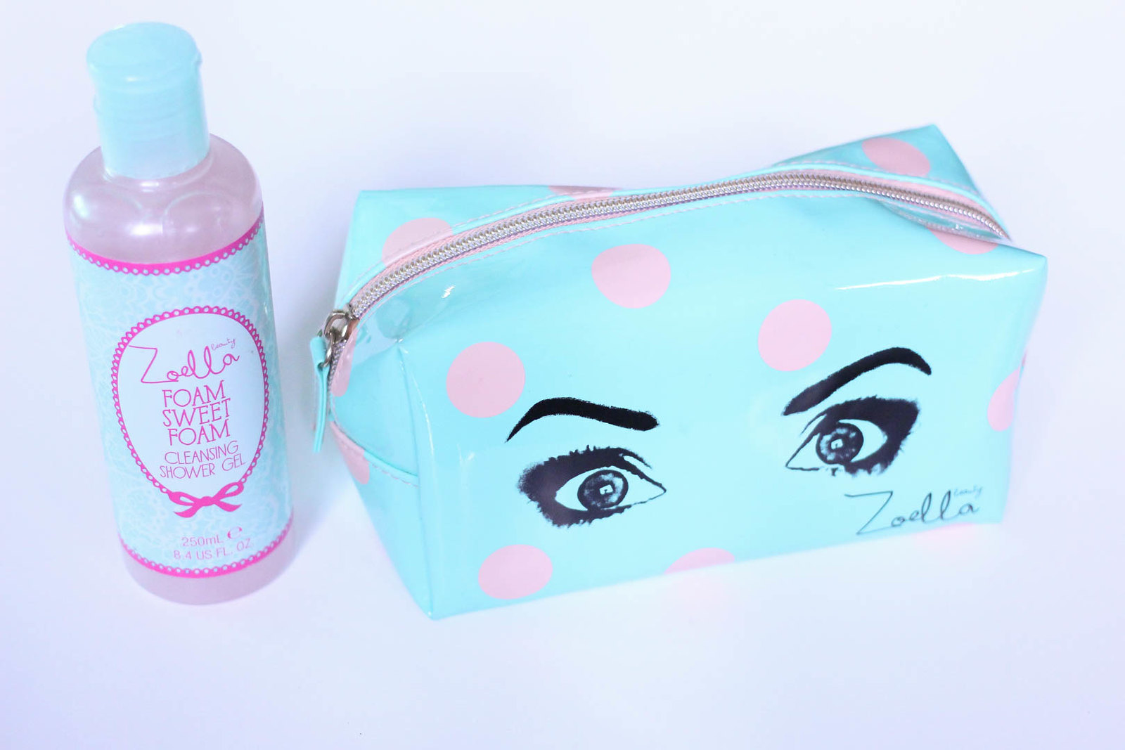 Zoella makeup bag mint green