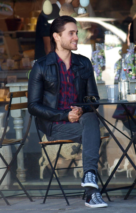 Jared Leto crossed legs