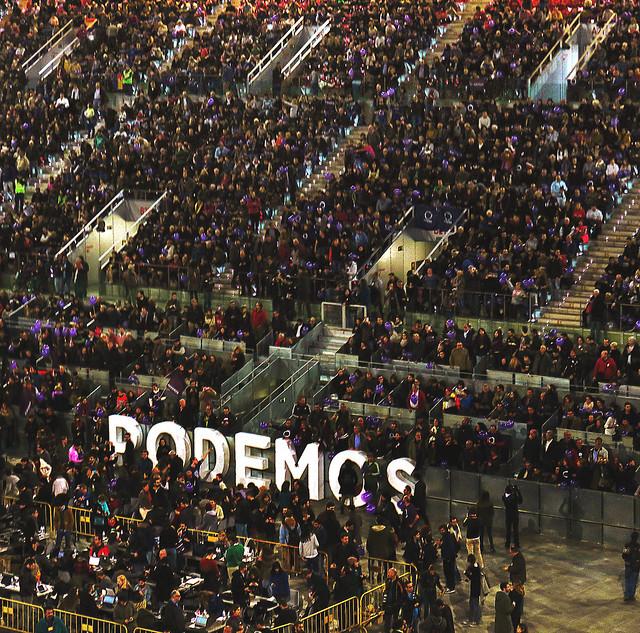Mitin para Podemos en Caja Majica, Madrid (2015)
