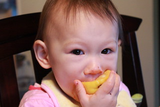 Eating a slice of lemon!?