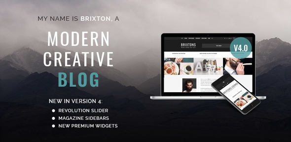 Brixton v4.0.1 - WordPress Blog Theme