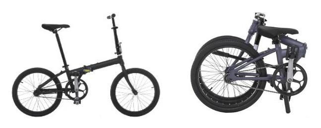 Bicicleta eléctrica negra plegable