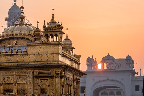 Sunrise over the Sikh Golden Temple - Amritsar, India | by Phil Marion