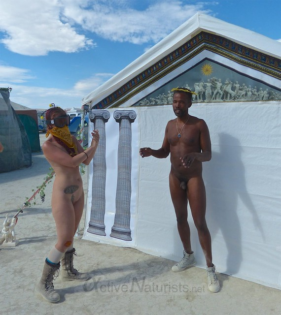 naturist run camp Gymnasium 0003 Burning Man, Black Rock City, NV, USA