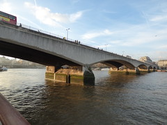 River Thames from the South Bank in London - Waterloo Bridge