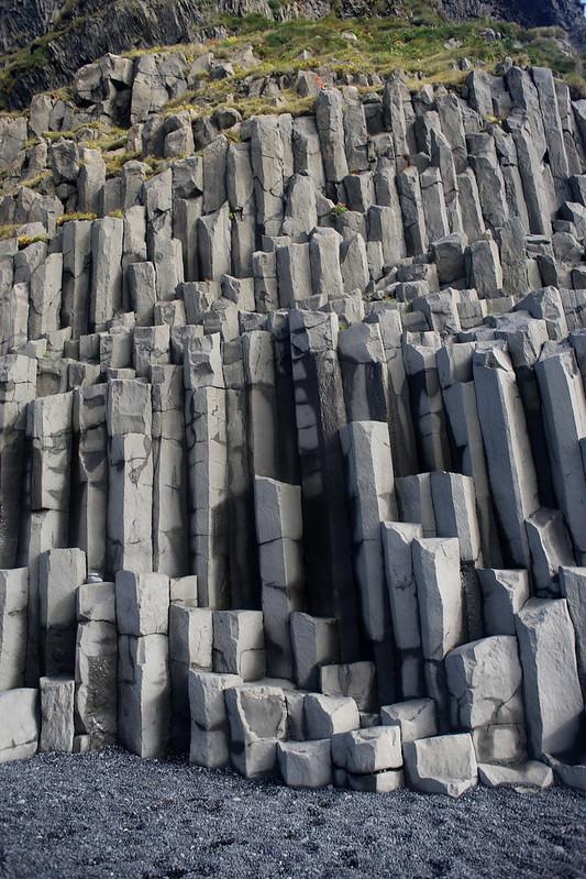 Basalt columbs on Reynisfjara beach