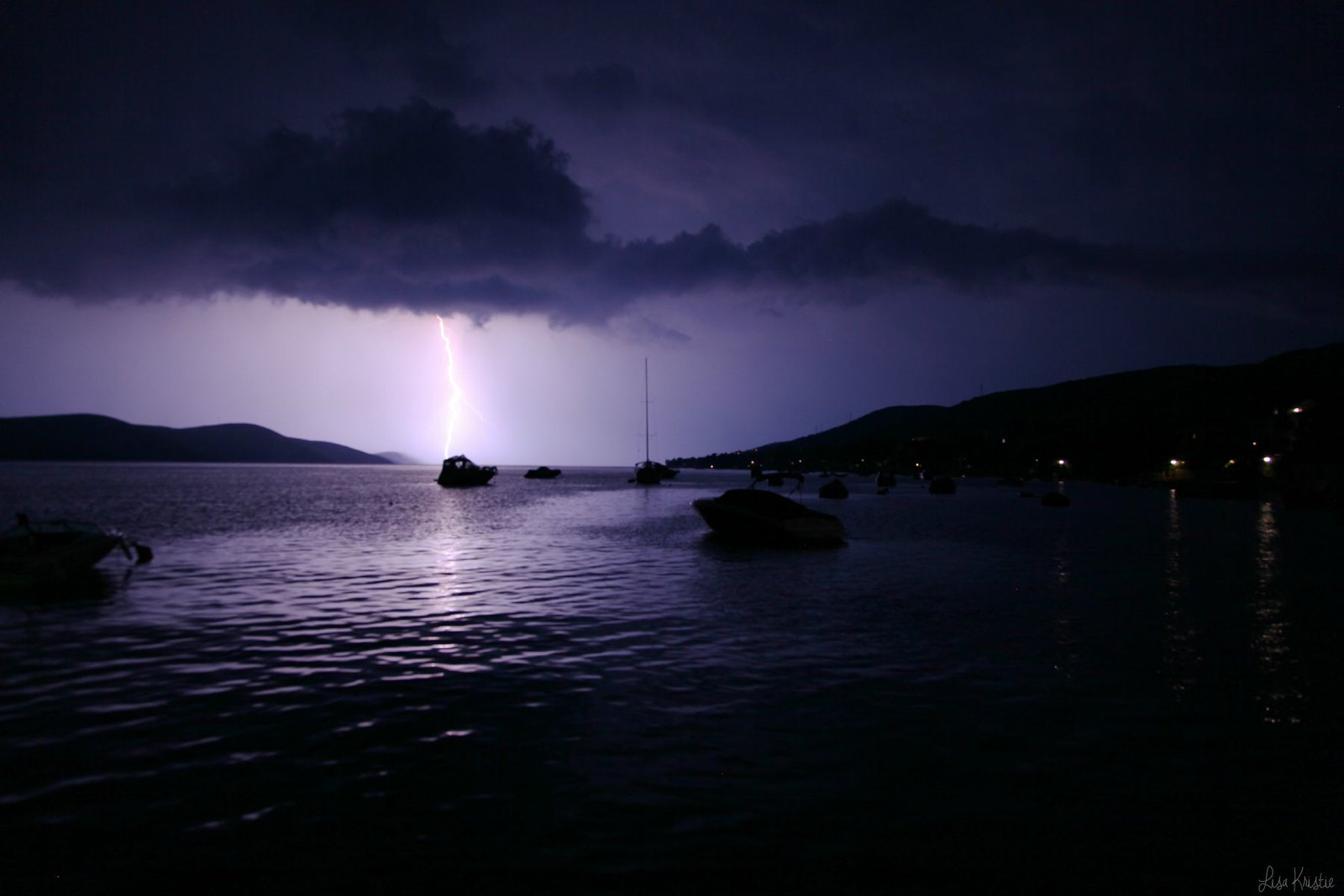 stara novalja pag croatia beach bay night thunder storm lightning
