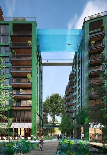 建築新突破 倫敦將蓋空中透明游泳池 Eckersley O'Callaghan 建築師事務所設計