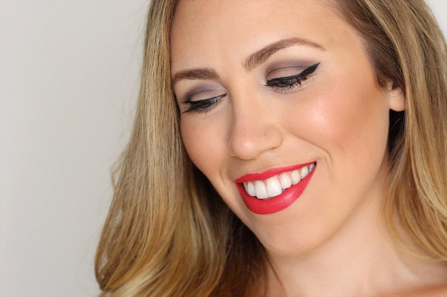 Glam Red Lip Makeup