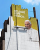 Pope Francis mural taking shape at 34th and 8th by @harryshuldman