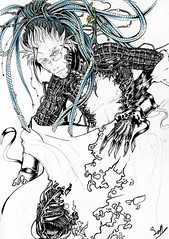 line art, sketch, manga, drawing, cartoon, illustration,