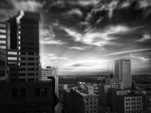 Downtown facing west from the state office tower