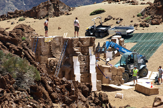 Building Clash of the Titans set, Teide National Park, Tenerife
