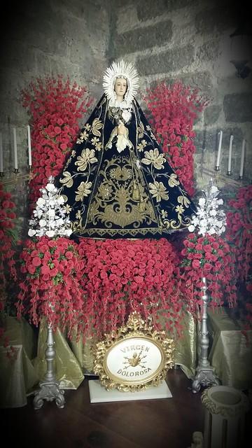 Virgen Dolorosa @ Sta. Rita marian exhibit 2015
