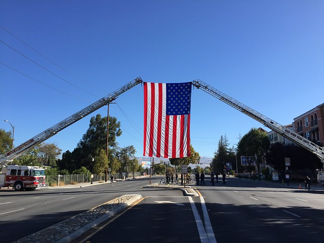 The US Flag flown by the FD