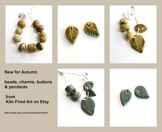 leaf pendants and beads