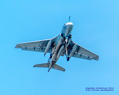 A GRUMMAN EA-6B PROWLER GOING AROUND ONE LAST TIME... LAST MAY