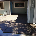 Exposed Aggregate Front Yard Patio In Davis