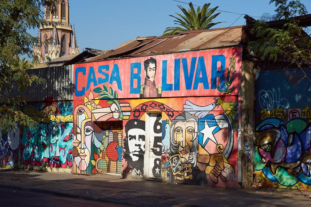 Casa Bolivar en Santiago de Chile