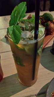 Grilled apple mint and lime juice at Smith & Daughters