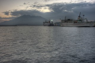 View of Sakurajima in early morning on OCT 24, 2015 (1)