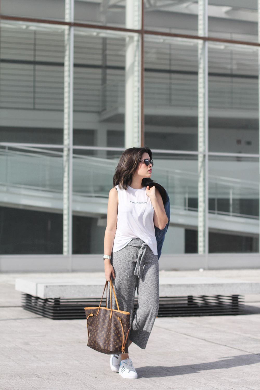 culottes de punto gris look deportivo normcore myblueberrynightsblog