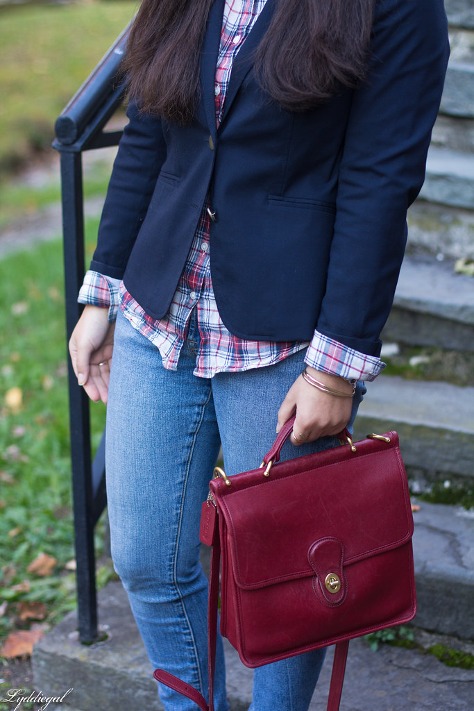 plaid shirt, navy blazer, red willis bag-13.jpg