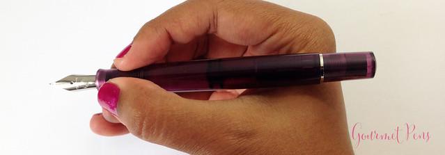 Review Pelikan M205 Classic Amethyst Fountain Pen @AppelboomLaren (9)
