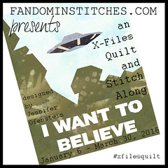 I Want To Believe: An X-Files Quilt & Stitch Along coming 2016 on fandominstitches.com