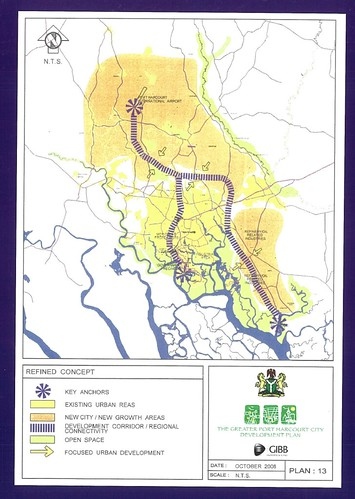 Map from Port Harcourt Master Plan