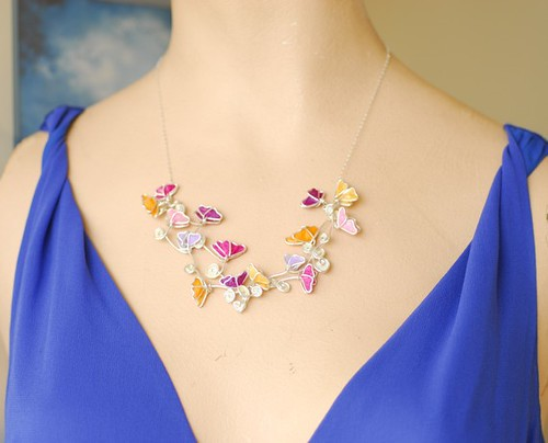 Butterfly Wing Statement Necklace