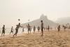 Footvollei Practice on Ipanema by Luke Robinson