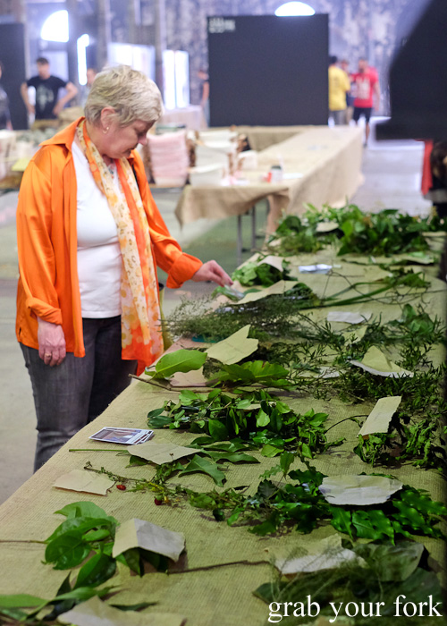 Native greens display at Rootstock Sydney 2015