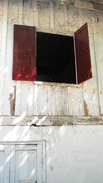 Shuttered window in a Luang Prabang monastery, Laos