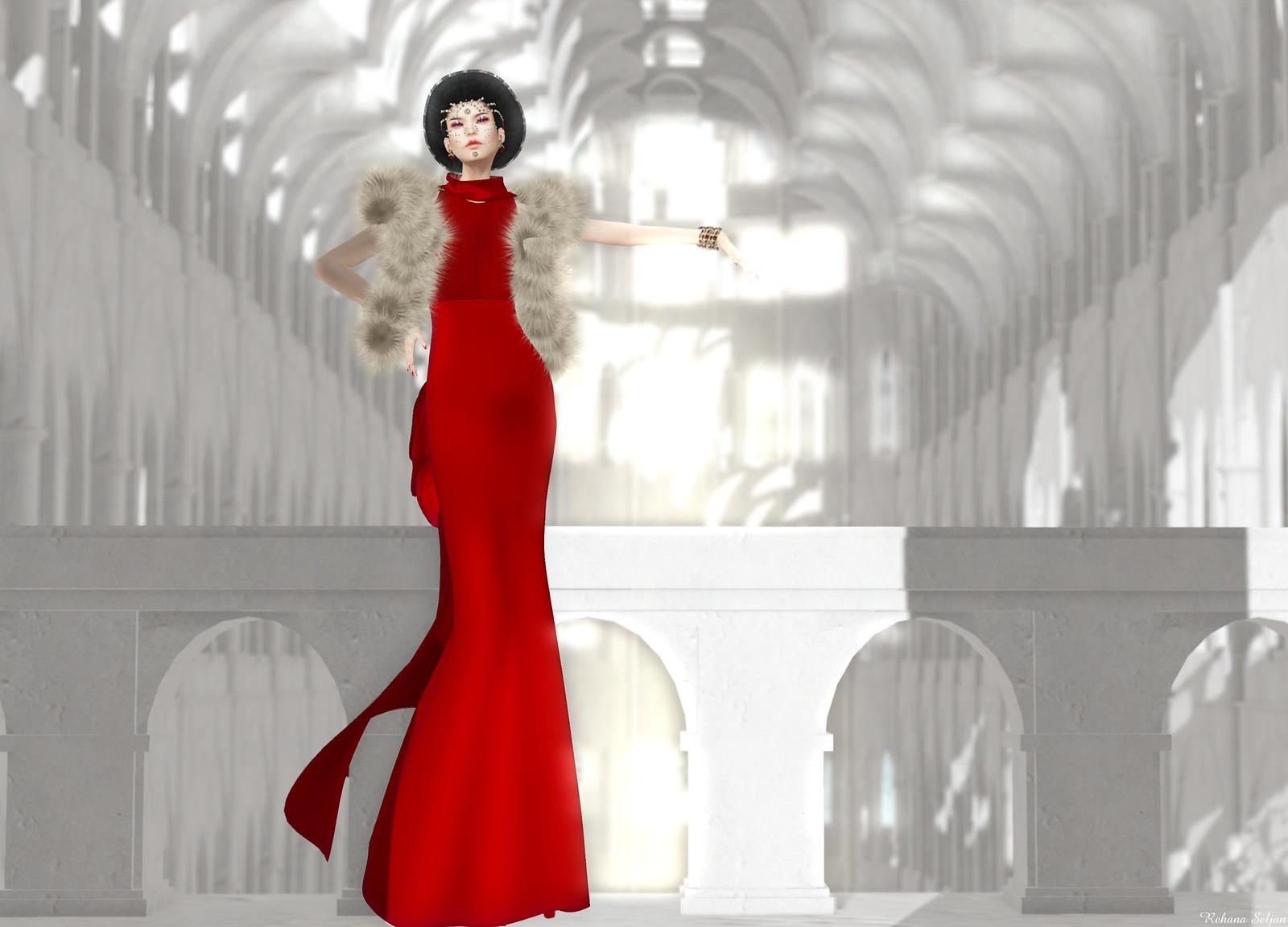 Snowpaws - Estree Gown