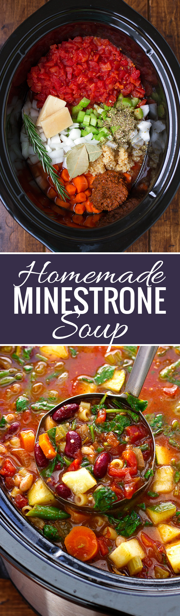 homemade minestrone soup slow cooker recipe little spice jar