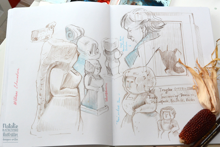 Sketches at Folkwang Museum in Essen