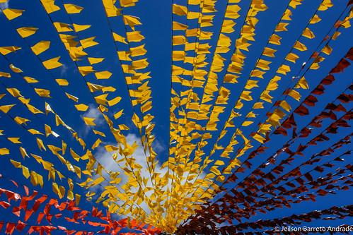 Bandeirolas no São João de Amargosa – Bahia, Brasil